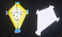 Streuteile - 5 'Drachen' fliegen lassen  (ca. 4x2,5cm)