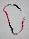 41cm von weiss, rot bis schwarz Halskette (handgefertigt)