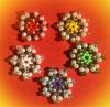 5 verschieden farbige Perlensterne (handgefertigt) Ø 3cm